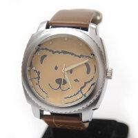 卡通小熊表儿童表 女表 皮带镶钻女士手表 石英表卡通小熊表