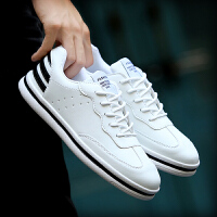 货到付款 男板鞋秋冬季小白鞋男士休闲鞋运动鞋白色球鞋韩版学生跑步鞋
