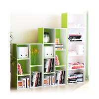 慧乐家儿童书架 自由组合书柜 简约现代收纳柜储物柜 简易小柜子 格子柜置物架