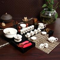 尚帝 马到成功套装 陶瓷茶具套装 整套功夫茶具茶盘套装42件TZ-M12K99