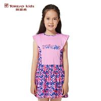 探路者TOREAD品牌童装 户外运动 女童印花系列连衣裙