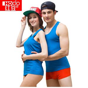 红豆春夏韩版修身打底弹力工字棉氨背心 时尚潮流5色可选