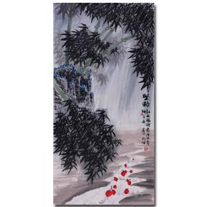 国家一级美术师 师百卉 【坚劲】137*70cm X3051