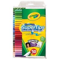 美国Crayola绘儿乐50色可水洗细杆水笔马克笔 儿童水彩笔安全无毒