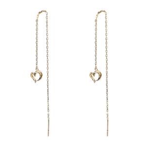 戴和美珠宝首饰耳饰 精选9K金心型耳环