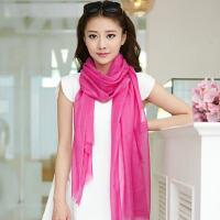 围巾女士冬天韩版潮秋冬冬季纯色戒指绒韩国羊毛披肩丝巾