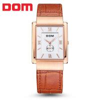 多姆(DOM)男士 腕表 超薄男士皮带手表  简约经典高雅防水石英手表