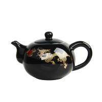 尚帝 黑金龙 陶瓷茶壶 功夫茶具 瓷器 茶具 黑色茶壶 功夫茶壶  DPCHT1K9