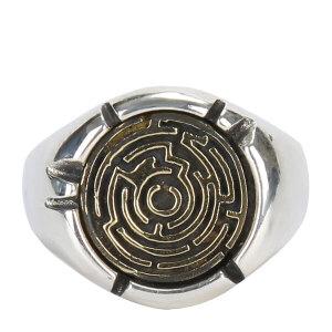 戴和美珠宝首饰戒指 S925银雕刻迷宫形指环戒指