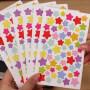 韩国手工DIY相册装饰必备 粘贴式相册影集可爱贴纸个性炫彩色6张/包 星星帖