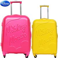 迪士尼米奇学生拉杆箱24寸20寸米奇儿童旅行箱成人出门必备糖果色拖箱密码箱