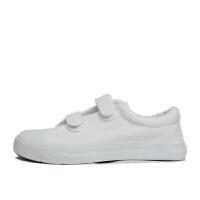双星  儿童帆布鞋 运动休闲鞋 白色表演色 板鞋