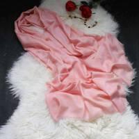 冬季女士80支大红色羊毛围巾 女式长款保暖围巾生日礼物大红色丝巾节日礼物情人节送姐妹