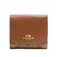 COACH 蔻驰 女式三折真皮短款钱包 折叠小钱包 零钱包 F53837
