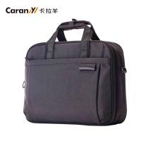 卡拉羊商务包男手提包笔记本包商务公文包13寸14寸15寸电脑包C1206