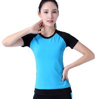 春夏季女士长袖瑜伽服上装健身房瑜珈跳操运动跑步愈加服上衣
