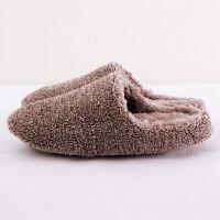 居家拖鞋冬季加厚良品日式棉拖鞋静音软底防水地板拖男女情侣机洗