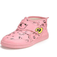 鞋柜SHOEBOX冬款女童黄色醒目时尚休闲男童靴子