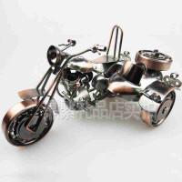 创意客厅桌面摆件欧式装饰品 铁皮边三轮侉子摩托车模型T20毕业礼物送朋友