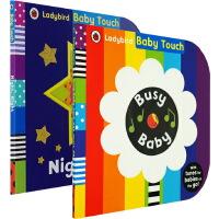 【英文原版】Baby Touch Busy Baby book /Night, Night 2册 儿童启蒙大开本纸板书绘本触摸书