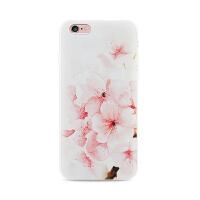 【全国包邮】hidog 苹果iPhone6手机壳4.7日韩白色碎花小清新6s plus保护套软胶