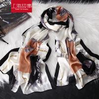 丝巾女夏季防晒纱巾印花沙滩巾超大百搭韩版女士保暖围巾披肩两用