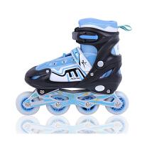 2016夏季新款小孩直排滑冰鞋全套护具 溜冰鞋儿童全套装闪光可调直排轮滑鞋旱冰鞋  增高鞋