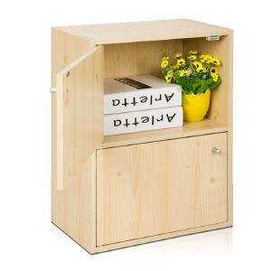 [当当自营]慧乐家 鲁比克二层组合带门柜 白枫木色 11062-1