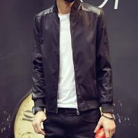 秋季新款男士薄款外套男装休闲夹克韩版大码青年棒球服开衫褂子