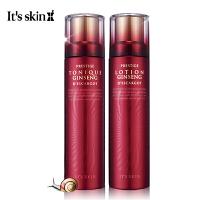 【海外购】It's Skin/伊思 红参蜗牛水乳两件套 再生水140ml+再生乳液140ml红参蜗牛系列