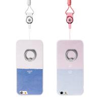 【全国包邮】hidog 苹果iPhone6手机壳带挂绳支架防摔6s plus保护套软边磨砂潮