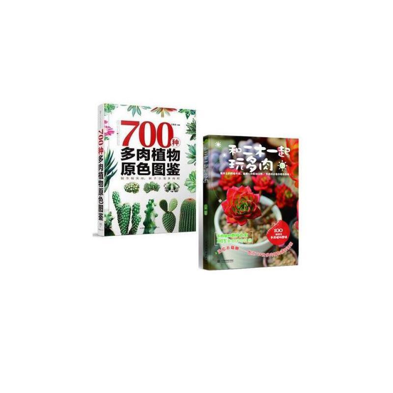 现货700种多肉植物原色图鉴 和二木一起玩多肉 多肉书 盆景养花书籍