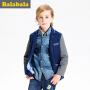 巴拉巴拉童装男童西服中大童上衣年春装儿童休闲小西装外套