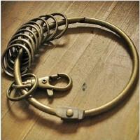 全店满99包邮!韩国文具 10环复古古铜质感大钥匙圈环 钥匙扣 大铁环2036025