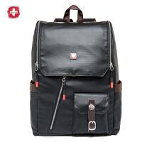 瑞士军刀 个性包盖韩版双肩包男士时尚潮流电脑包背包出行包SA9811