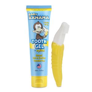 【当当海外购】美国直邮 Baby Banana 香蕉宝宝牙膏牙刷组合 海外购