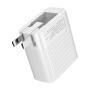 【折叠插脚易收纳】Baseus倍思 双USB 2.4A折叠中规旅行充电器 安卓苹果充电头通用