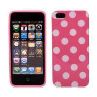 苹果 iPhone5S iPhone se手机保护壳 iPhone se时尚波点果冻硅胶套 软壳