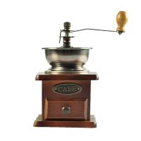 吉泰儿 古铜色8521小木手摇磨豆机 手动家用磨咖啡豆机 研磨机