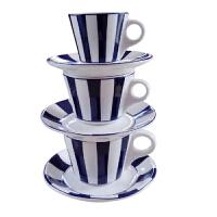 YAMI普罗旺斯咖啡杯 陶瓷意式浓缩杯 单品卡布奇诺欧式杯碟 套装 3杯+3碟