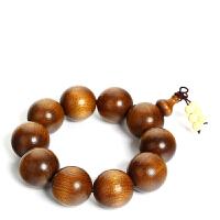戴和美 精选优质天然金丝楠木圆珠手串
