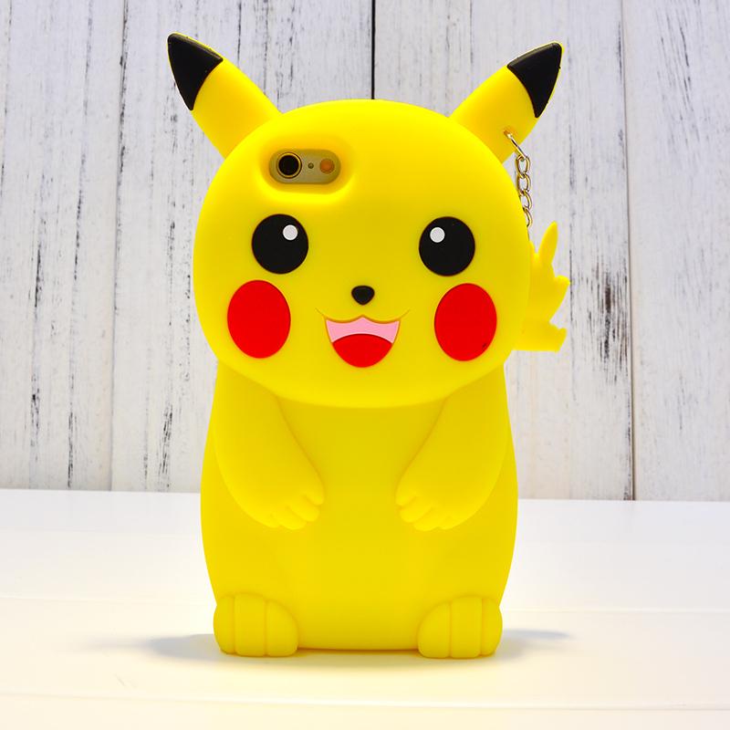 皮卡丘苹果6s手机壳可爱卡通iphone6/plus/5s硅胶防摔全包潮女款_黄色