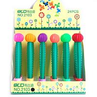 新款韩国创意文具可爱时尚仙人球硅胶造型学生中性笔水笔0.38MM