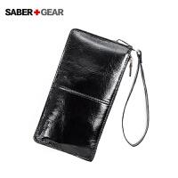 SABER+GEAR军刀男士真皮长款钱包商务休闲钱夹卡包BP7406