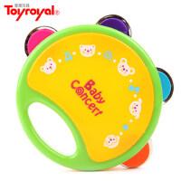 皇室 儿童手摇铃鼓 婴幼儿园铃鼓 手鼓宝宝拍打击乐器玩具 手摇鼓