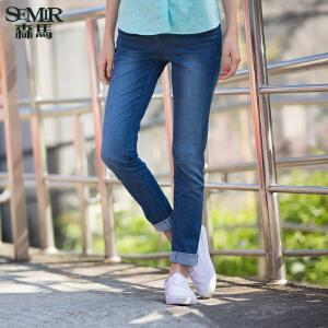 森马水洗牛仔裤 春装 女士中低腰修身小脚牛仔长裤韩版潮