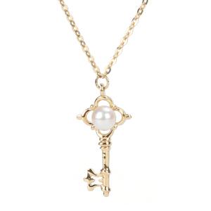 戴和美珠宝首饰吊坠 精选14K金钥匙项链