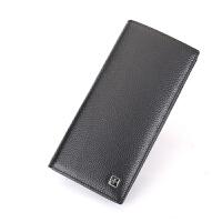 瑞士军刀 钱包男士长款真皮两折头层牛皮钱夹 BW650826
