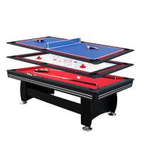 多功能多合一台球桌 球杆冰球台 乒乓球桌 冰壶桌 桌上足球桌 保龄球桌 象棋桌 围棋桌