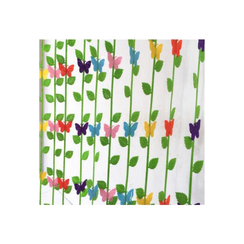 幼儿园教室装饰 彩色蝴蝶吊饰 幼儿园吊饰 学校商场墙面贴画贴纸 树叶